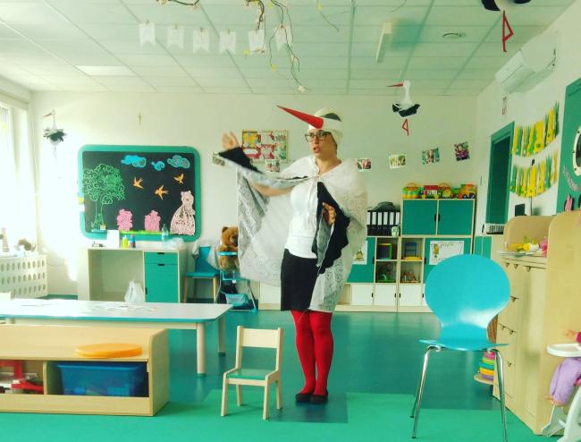 """Scenariusz bajkoczytania – """"Pani Bocianowa i jej wymarzone pisanki"""""""