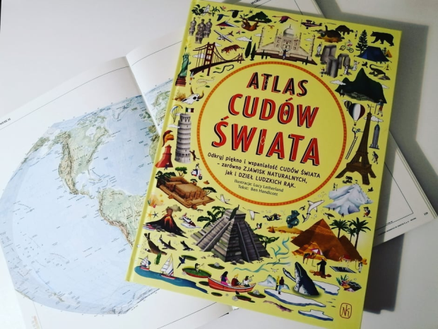 "CUDA – ""Atlas Cudów świata"" L. Letherland i B. Handicott; Nasza Księgarnia"